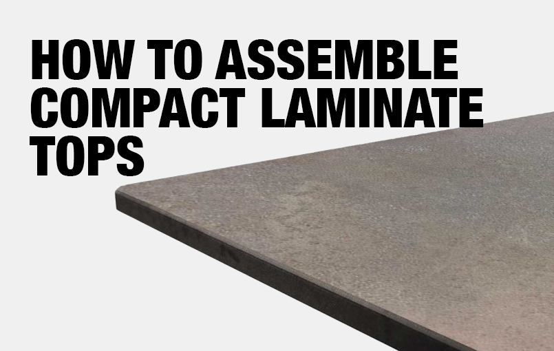 How to Screw into Compact Laminate Tops (Don't)